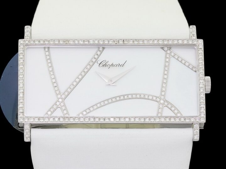Rectangle Ladies Classic Haute Horlogerie 18kt Weissgold Diamantbesatz ca. 152 = 0,72ct