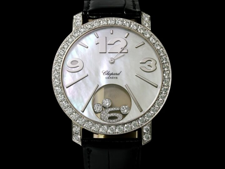 CHOPARD HAPPY DIAMONDS HAPPY TIME 18kt WEISSGOLD DIAMANT-BESATZ | 207450-1005