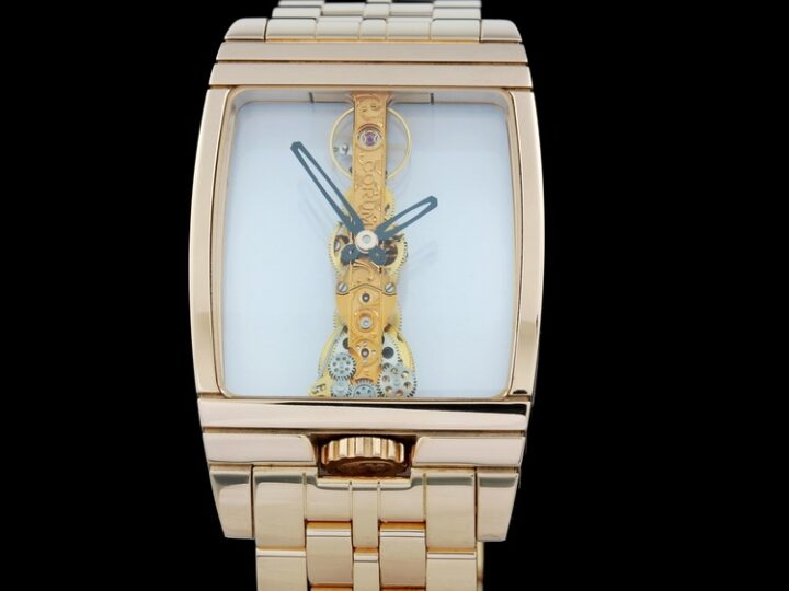 CORUM GOLDEN BRIDGE 18kt ROSEGOLD ROSEGOLDBAND 32 x 37MM | 113.550.55/M600 0000R