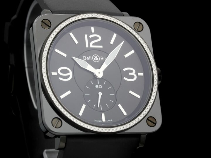BELL & ROSS AVIATION BR S KERAMIK DIAMANTBESATZ 39 | BRS-BLCE-DIAM/SRB | BRS-98