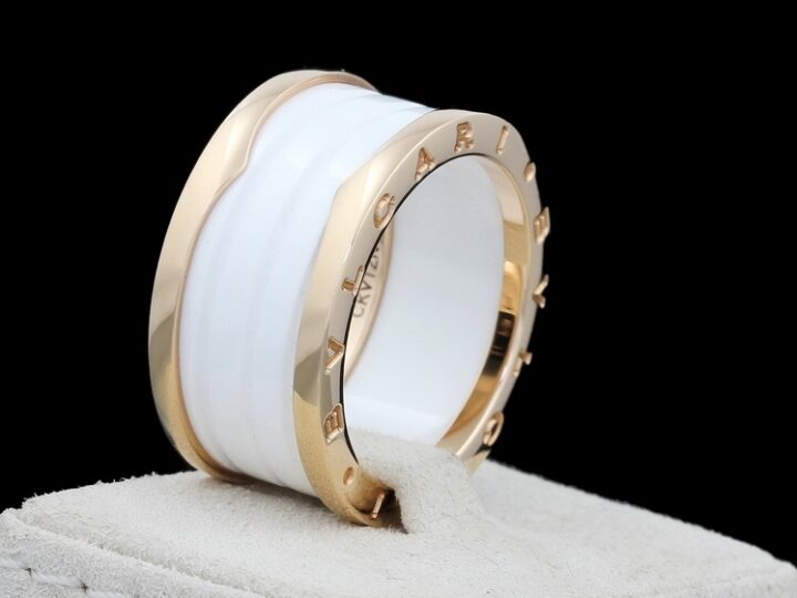 BULGARI B.ZERO1 | 4 BAND RING 18KT ROSEGOLD/KERAMIK | AN855564