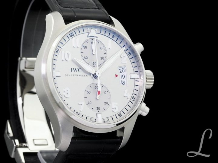 IWC PILOT SPITFIRE JU-AIR SILVER SILBER CHRONOGRAPH LIMITED OF 500 | IW387809
