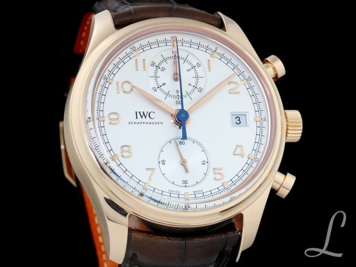IWC PORTUGIESER CLASSIC CHRONOGRAPH 18KT ROSEGOLD 42MM | IW390402