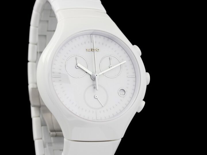 RADO TRUE CHRONOGRAPH WHITE KERAMIK QUARZ 44MM | R27832012 | 01.541.0832.3.001