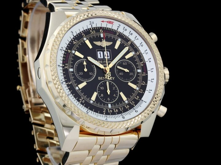 BREITLING FOR BENTLEY 6.75 BIG DATE PANORAMADATUM 18KT GELBGOLD REF. K44362