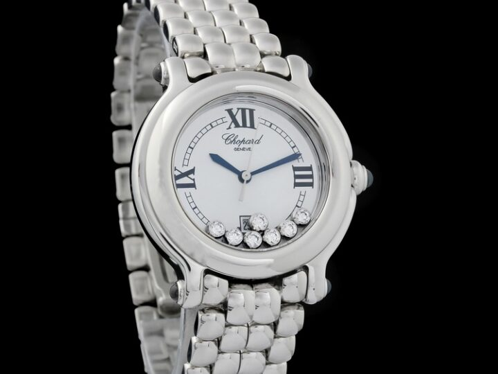 CHOPARD HAPPY SPORT 7 DIAMOND EDELSTAHL DAMENUHR 32 MM | 27/8236-23