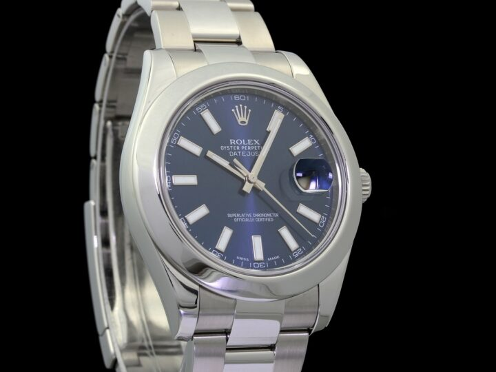 Rolex Datejust II 2 41mm, Blau-Metallic, Ref.116300