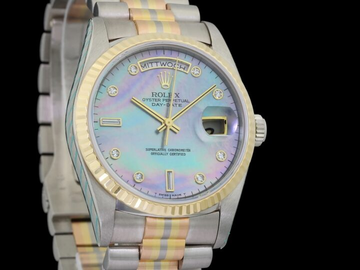 "Rolex Day-Date ""Tridor"", Mother of Pearl, Diamantbesatz, Rolex-Service 2018, 18239 BIC"