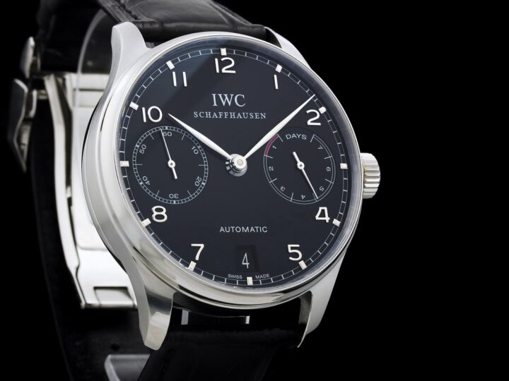 IWC Portugieser 7-Days Power Reserve 42,3mm, schwarzes Krokoleder, IW500109