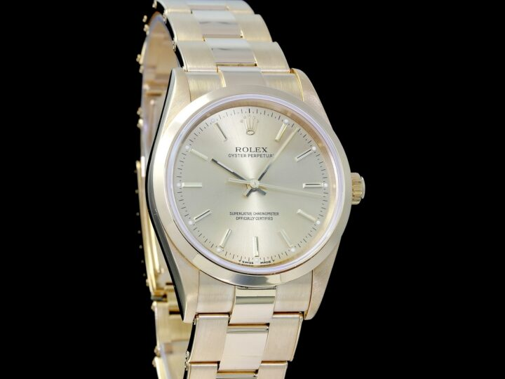 Rolex Oyster Perpetual 34mm, Gelbgold, 14208