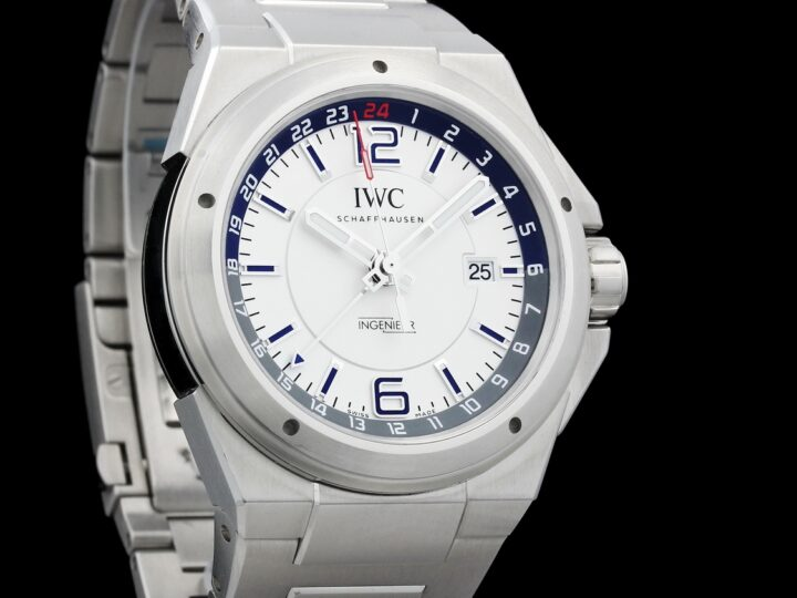 IWC INGENIEUR DUAL TIME AUTOMATIK EDELSTAHL DATUM WEISS 43MM | 2017 | IW324404