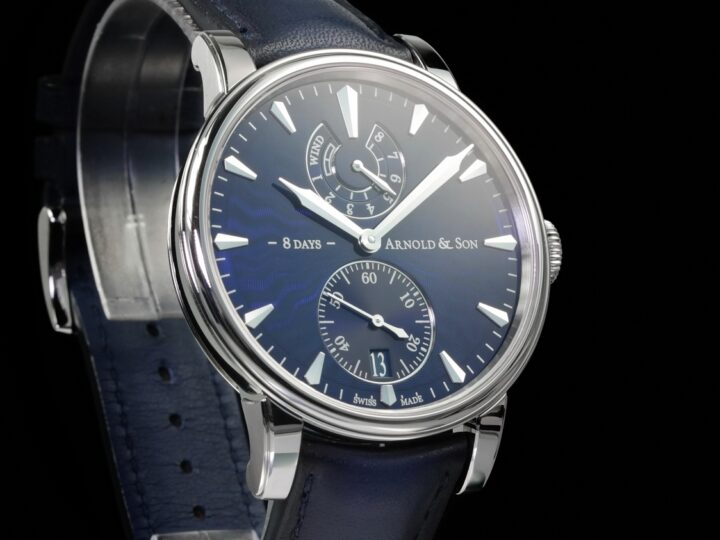 Arnold & Son Eight-Day 8 Days, Royal Navy Blue, Guilloché Dial, 1EDAS.U01A.D136A
