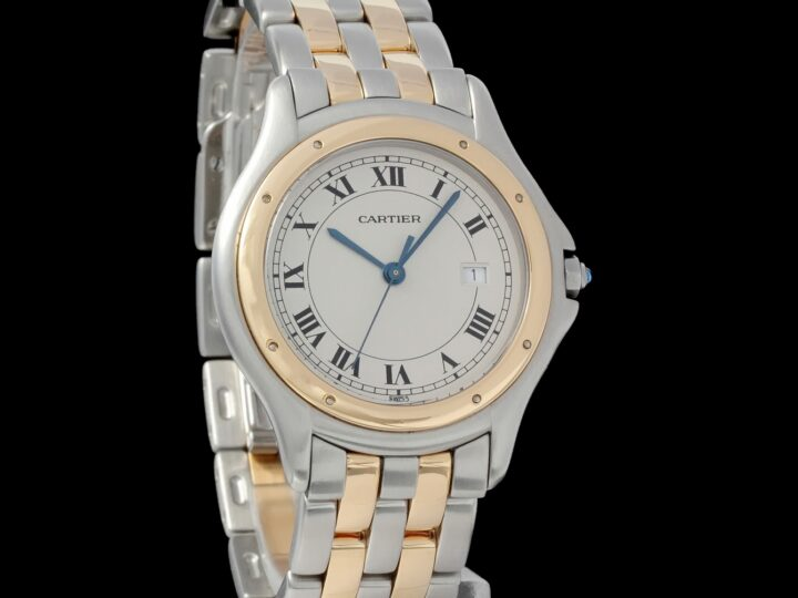 Cartier Cougar 33mm, Two Tone, Gold/Edelstahl, 187904