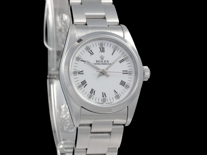 Rolex Oyster Perpetual Medium 31mm, weiss/rom., 67480
