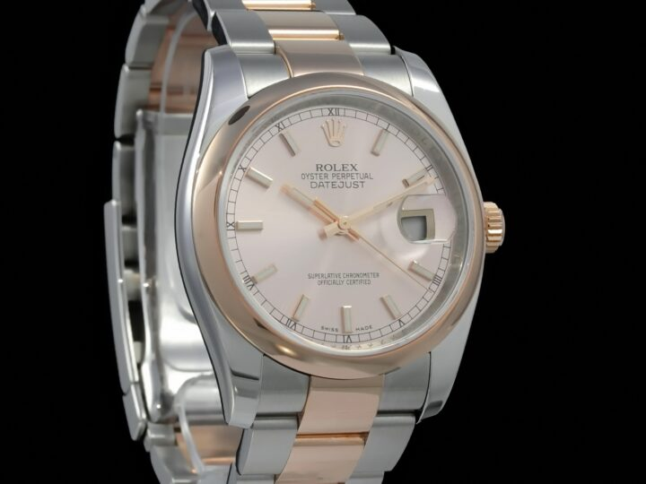 Rolex Datejust 36mm, Rolesor, Everose-Gold, Rose Zifferblatt, 116201