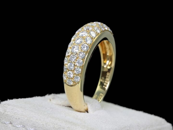 Cartier Ring, Gelbgold, 40 Brillanten, RG. 54