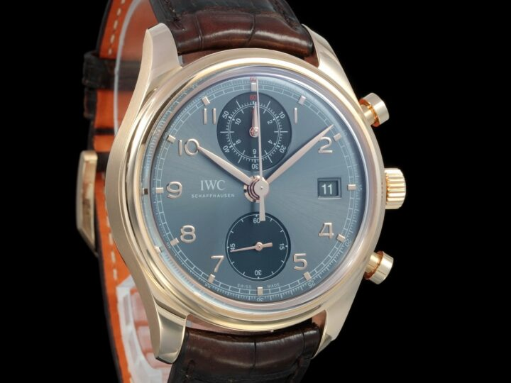 IWC Portugieser, Portuguese Classic 42mm Chronograph, Ardoise Dial, Rosegold, IW390405