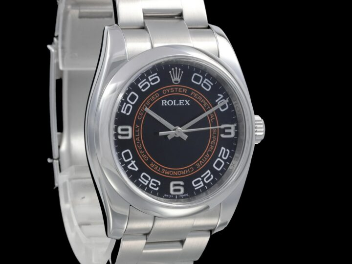 Rolex Oyster Perpetual 36mm, Harley /Orange Zifferblatt, 116000