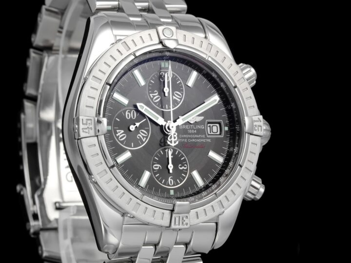Breitling Chronomat Evolution 43mm, Chronograph, Grau-Metallic, A13356