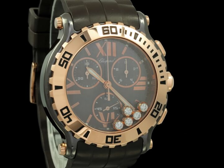 Chopard Happy Sport 42mm, Limited Edition, Chocolate, Keramik/Rosegold, 288515-9003