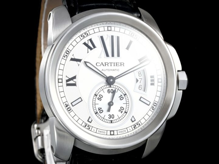 Cartier Calibre de Cartier 42mm, Grosses Modell, Krokodillederband, W7100013