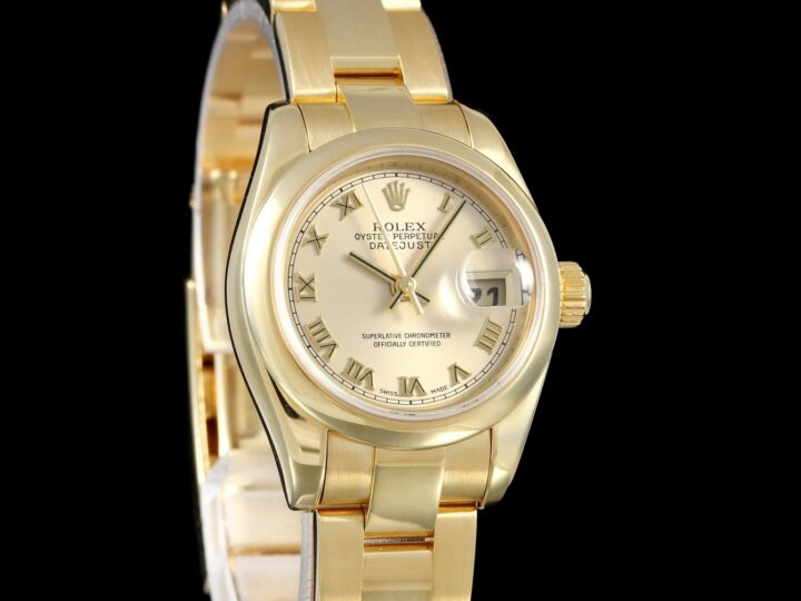 Rolex Lady Datejust, Gelbgold, Oysterband, LC100, 179168