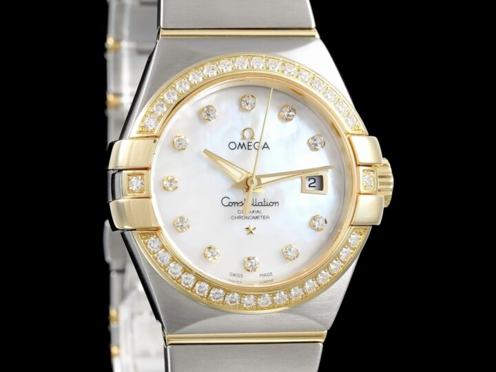 Omega Constellation Co-Axial 31mm, Diamant, Perlmutt, Omega Service 2020, 123.25.31.20.55.003