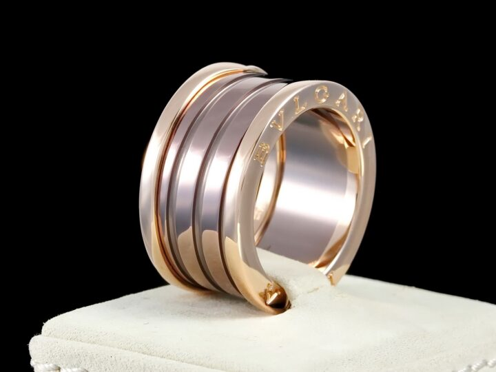 Bulgari Ring B.zero1 4-Band Roma Bronze, Rosegold, Rg 55
