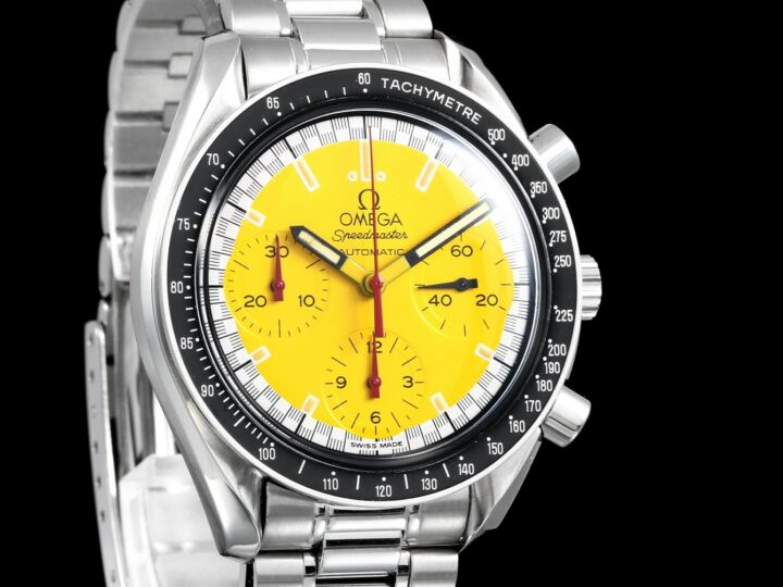 Omega Speedmaster Reduced Racing 39mm, Yellow Dial, 1750032.1, 3510.12.00