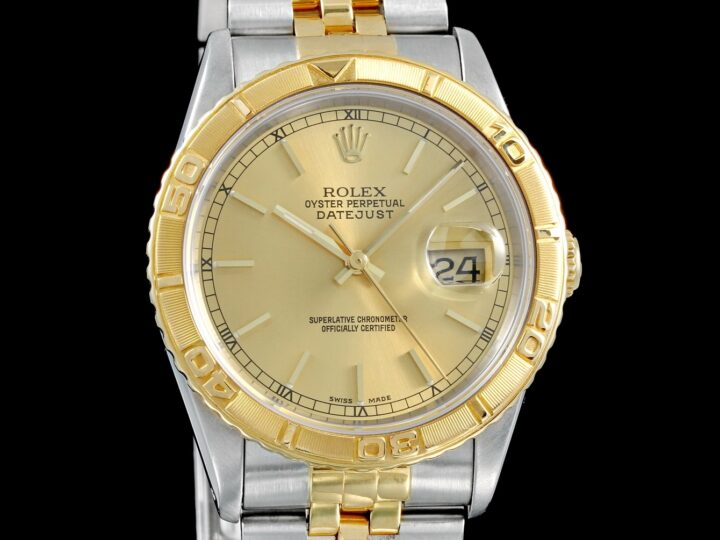 Rolex Datejust Turn-O-Graph, champagner ZB, Jubilee-Band, 16263