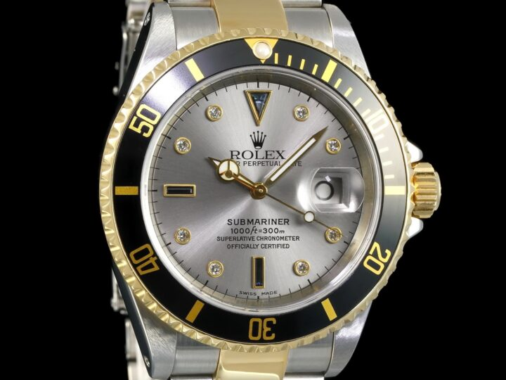 Rolex Submariner Date, Sultan Dial, Diamanten & Safir Zifferblatt, Gold/Stahl, 16613