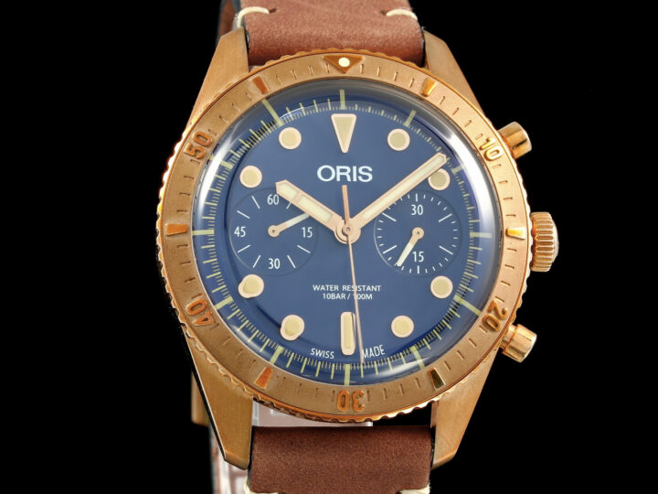 Oris Carl Brashear Chrono Bronze, Limited Edition 2000, 01 771 7744 3185-Set LS, Zert.+Box