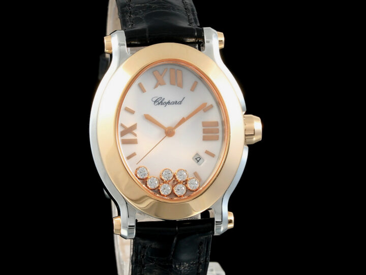Chopard Happy Sport Oval, 7 Diamonds, Rosegold\Edelstahl, 278546-6001