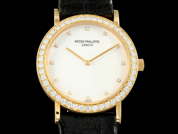 Patek Philippe Calatrava 33mm Gelbgold, 46 Brillanten, Diamonds, 5006, Box+Zert.DE