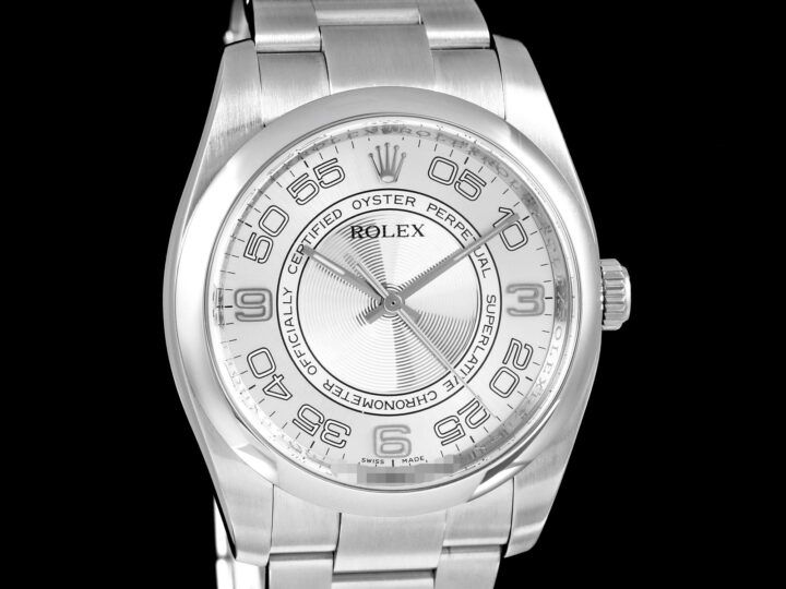 Rolex Oyster Perpetual 36, arab. Silver Circle, LC100, 116000