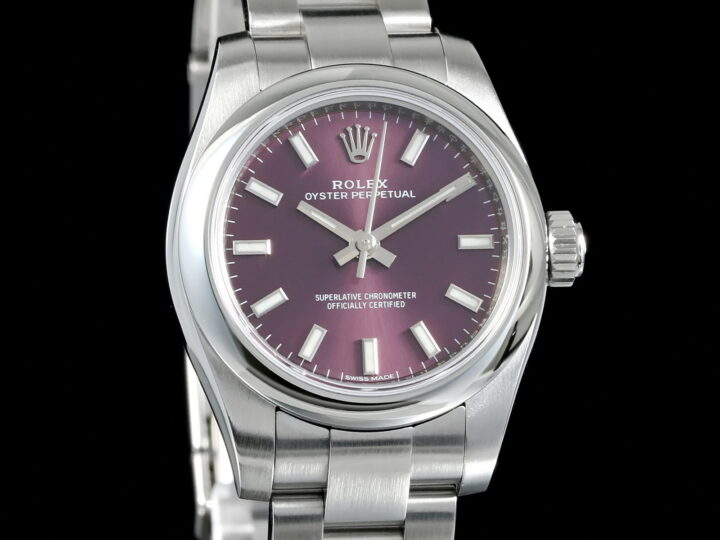 Rolex Oyster Perpetual 26mm, Red Grape, LC100, 176200